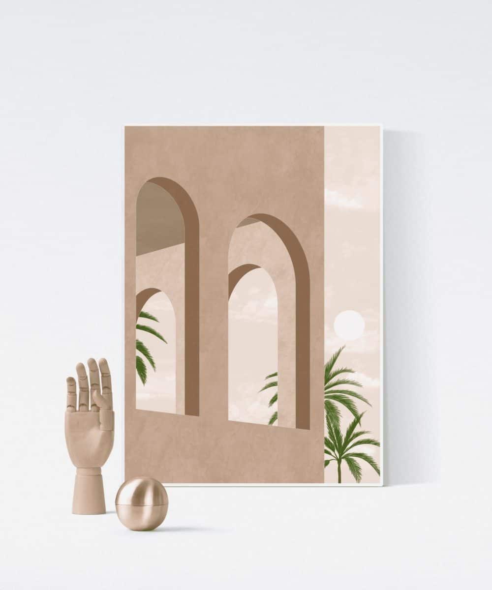 Beżowy plakat Beige Summer