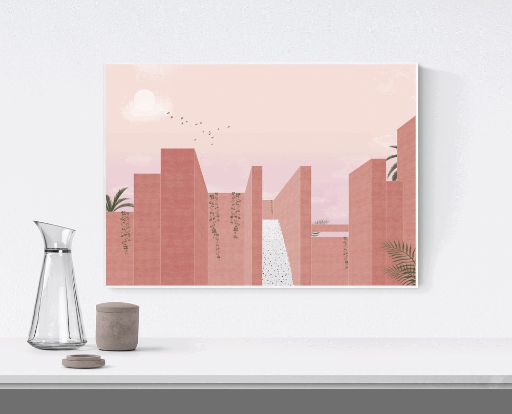 Różowy plakat Pink Summer