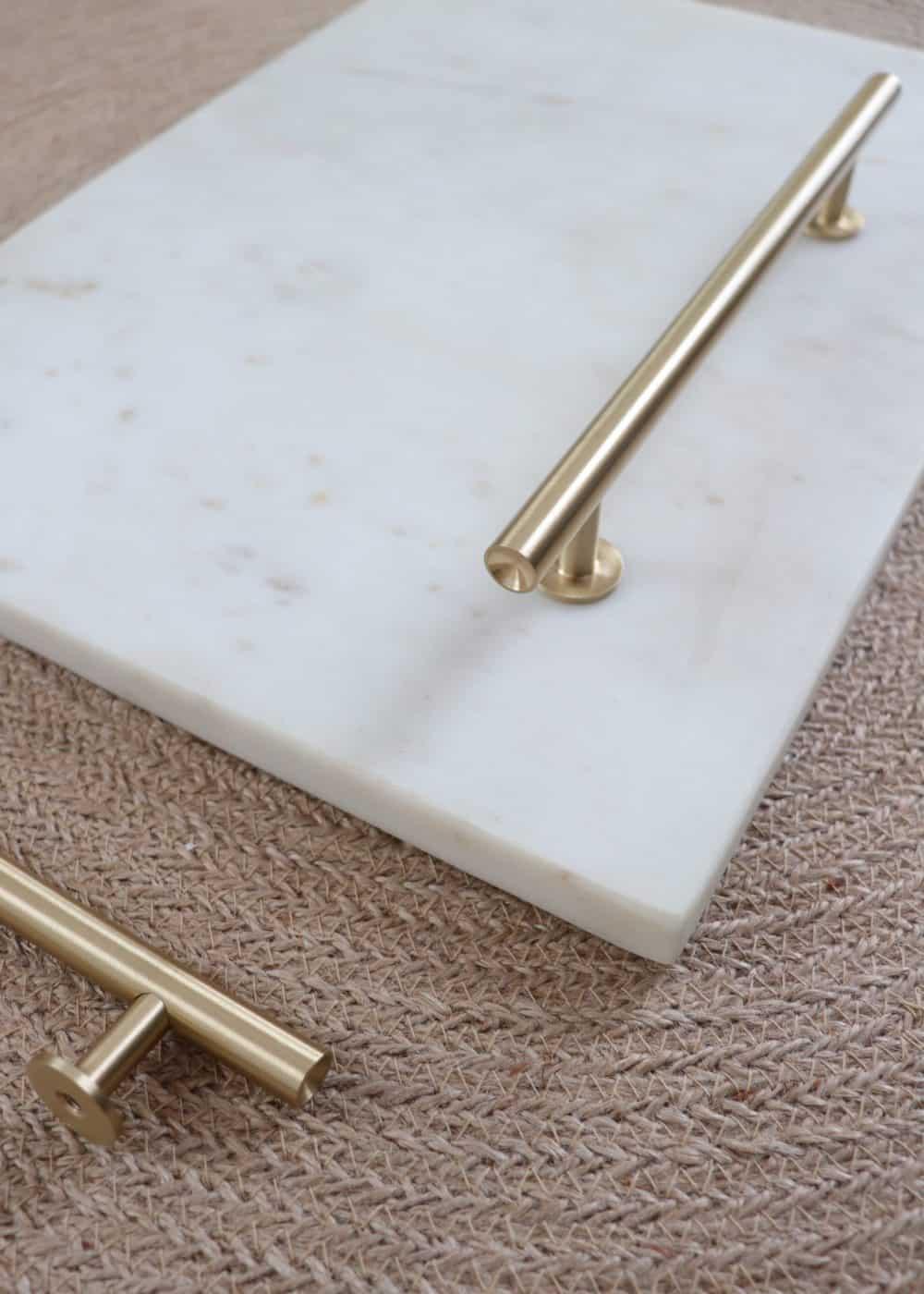 Mosiężny uchwyt meblowy, złoty uchwyt meblowy Lidia XL