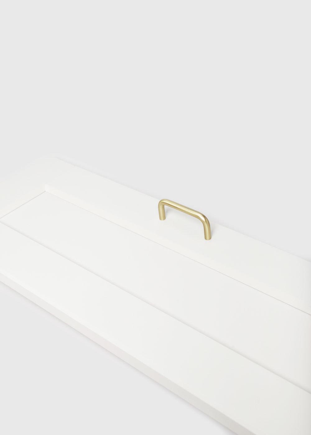 Lana S - złoty, mosiężny uchwyt meblowy na froncie 60 cm